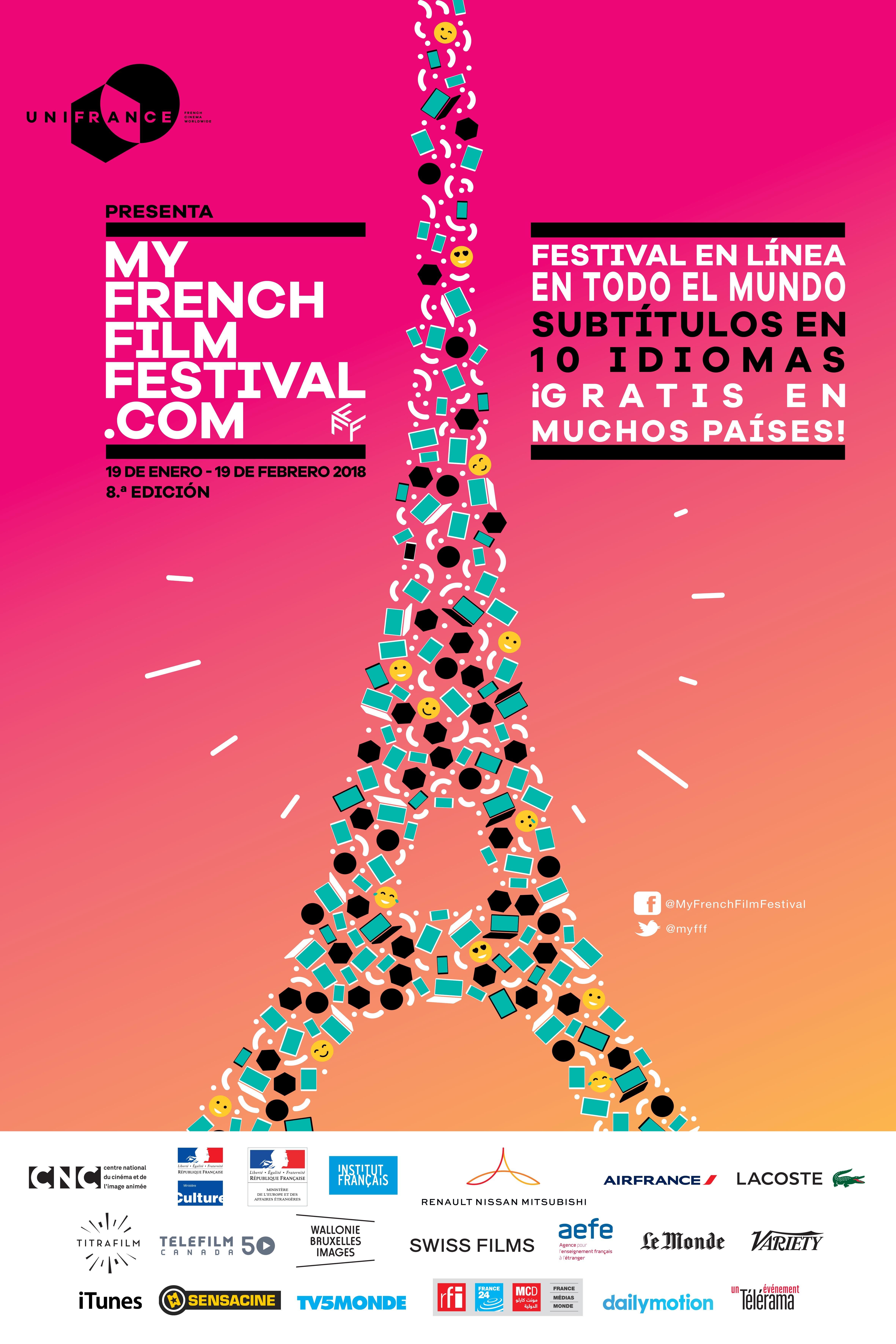 MyFrenchFilmFestival.com es un concepto inédito ideado para dar visibilidad a la joven generación de cineastas franceses y la posibilidad a los internautas del mundo entero de compartir el amor que sienten por el cine francés. En esta octava edición, vuelve el festival con nuevas películas, nuevas plataformas asociadas y estrenos en las salas en varios territorios.